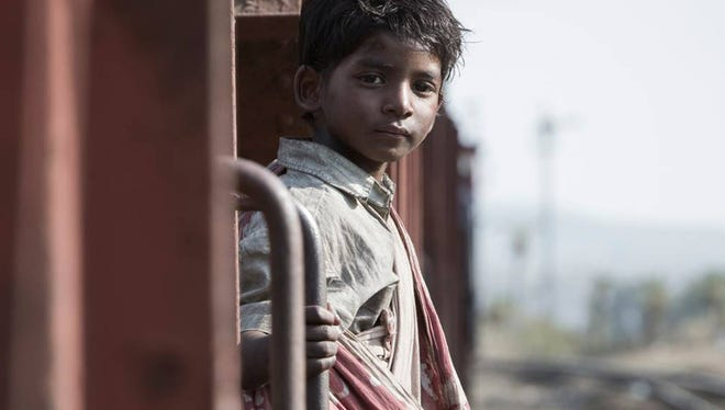 "Sunny Pawar is a long way from home in ""Lion."""