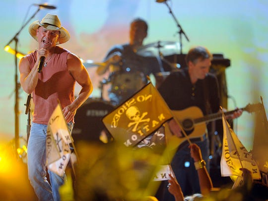 ACM Awards  Kenny Chesney performs at the 48th Annual Academy of Country Music Awards at the MGM Grand Garden Arena in Las Vegas Sunday, April 7