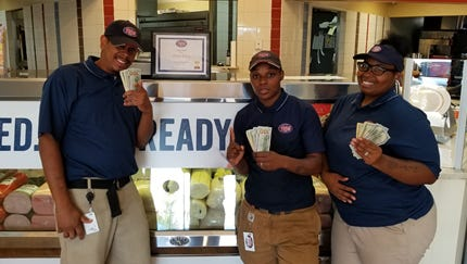 Marlon Adams, Twyla Johnson and Tanae Johnson made up the Cincinnati finalists in the Jersey Mike's competition.