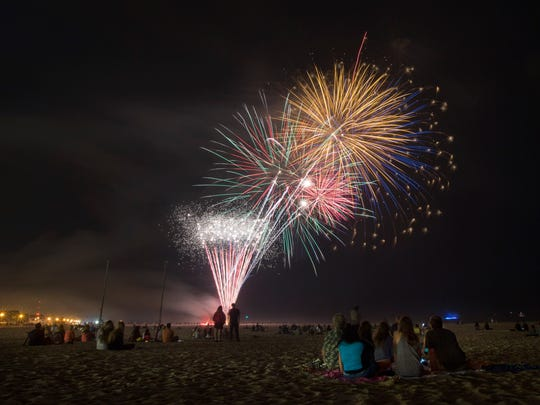 Fireworks at Jenkinson's at Point Pleasant Beach.