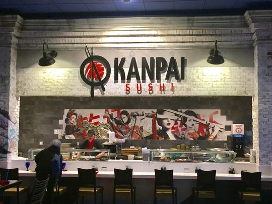 The sushi bar at the new Kanpai Sushi in Circus Circus Reno is all-you-can-eat; the dining room is à la carte.