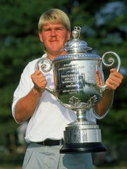 John Daly celebrates his surprise victory at the 1991