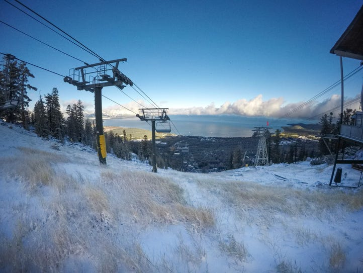 Lake Tahoe seen from Heavenly Mountain Resort on Oct.