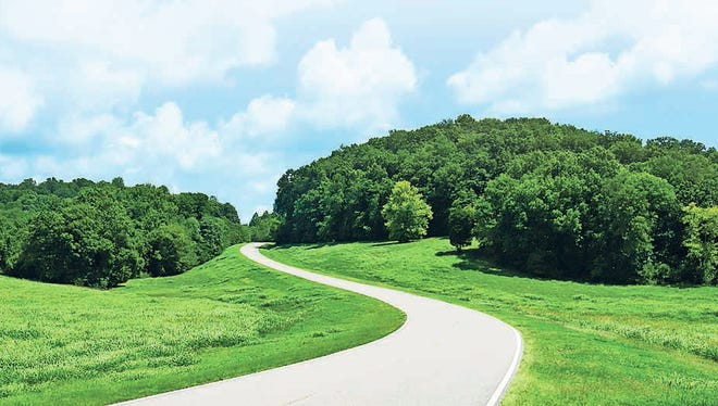 the Natchez Trace Parkway stretches 444 miles from Nashville, Tenn., to Natchez, Miss.