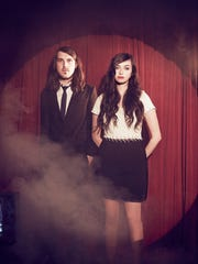 Cults perform Saturday night at beWILDerfest at Urban Artifact in Northside.