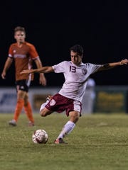 Henderson's Ed Zeron (13) during the game against the