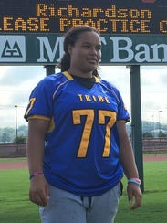 Bree Smith-Cheeks is a junior defensive lineman on