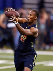 Florida State wide receiver Travis Rudolph is hoping his performance at the 2017 NFL Combine will help him get drafted this April.