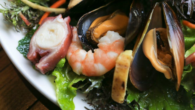 Chilled seafood salad from River House on River Road.