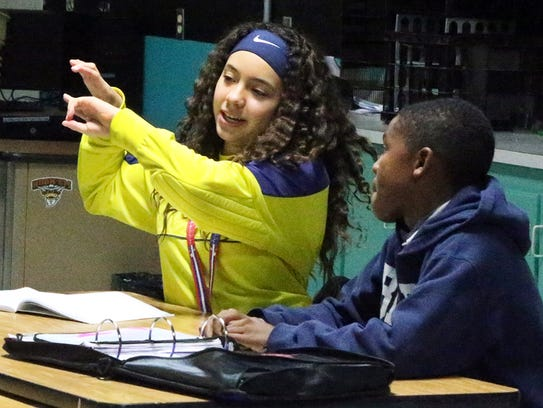 Camino Real seventh-grade STEAM students Destiny Conde,
