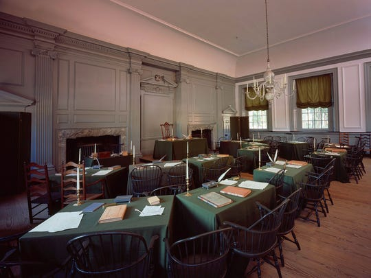 Families can see Independence Hall's Assembly Room, where the Declaration of Independence and the U.S. Constitution were signed.