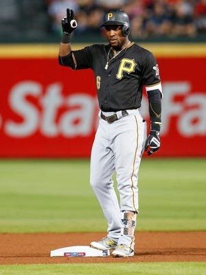 Starling Marte left the Pirates' game with an apparent injury.