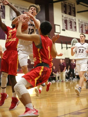 Bergen Catholic (red) is No. 1 and Don Bosco (white) No.2 in The Record boys basketball Top 25 for Tuesday, Jan. 24.