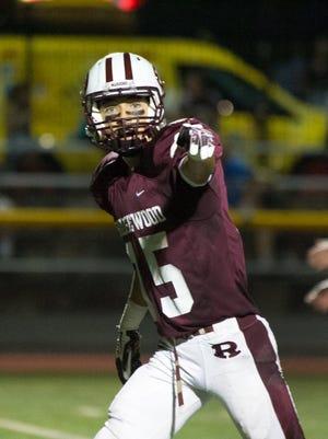Ridgewood's Dan Romero caught a 42-yard touchdown pass to open the game against Bergen Tech.