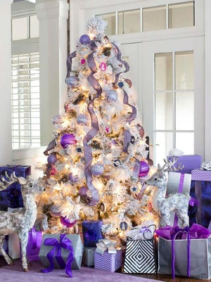 Decorating with Christmas trees