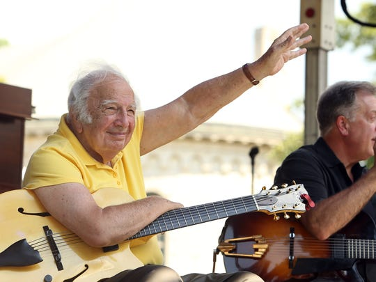 Legendary guitarist Bucky Pizzarelli, a festival favorite