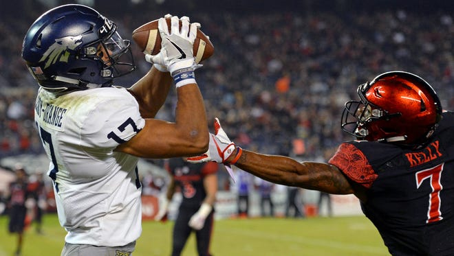 Wolf Pack wide receiver Brendan O'Leary-Orange had career highs in receptions, yards, and touchdowns last season against San Diego State.