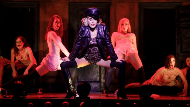 """Knoxville native Bailey McCall Thomas, center, is making her touring debut as Sally Bowles in """"Cabaret."""""""
