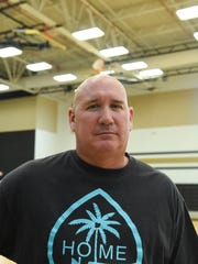 Independent Interscholastic Athletic Association of Guam President and Haggan-NexGen U18, U14 assistant coach Chris Shepherd during a practice at the Tiyan High School Gym on June 22, 2017.