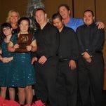 Chase Berke, Travis Martin,  Rider of the Year, Dr Tamela and John Martin