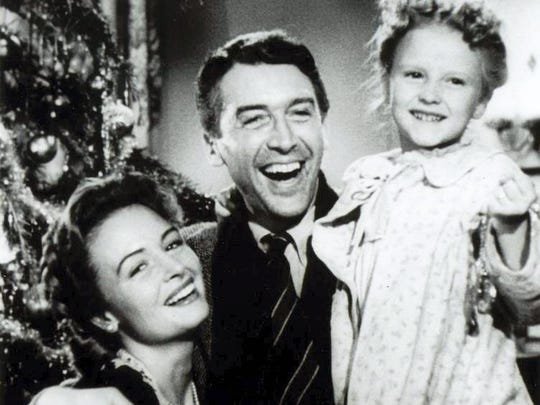"""It's A Wonderful Life"" with Jimmy Stewart."