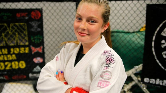 Irie Olaguibel's aspirations in MMA don't stop with ji-jitsu. This dedicated grappler wants to be an MMA champion like her favorite fighter Ronda Rousey.