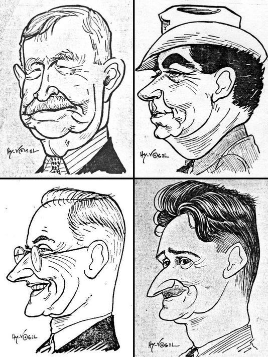 Hy Vogel Sketched Well Known Faces In 1939