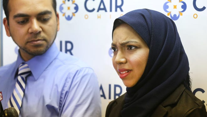 Nazia (right) and Faisal Ali were kicked off a Delta Air Lines flight from Paris to Cincinnati on July 26.