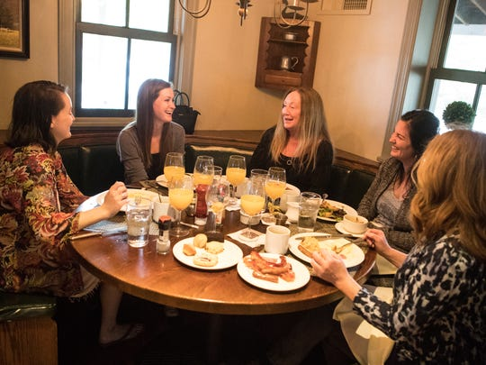 Sarah Cronin, from left, Cassie Quinney, Nancy Cronin, Christa Palladino, and Karen Cronin enjoy Mother's Day Brunch brunch at Buckley's Tavern Sunday morning.