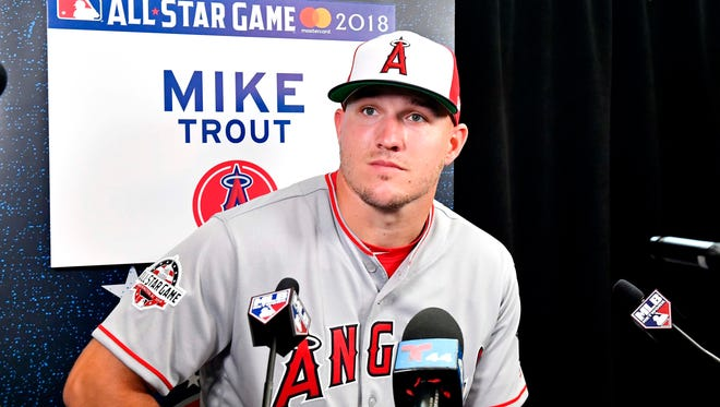 Mike Trout is playing in his seventh straight All-Star Game.