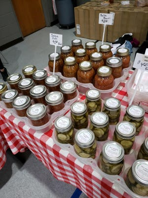 Canned goods will be for sale at the Harvest Farmers Market on Tuesday, Dec. 1, at the market's Holiday Extravaganza at Emmanuel Foursquare Church, 1325 E. Cloud Street in Salina.