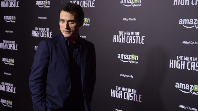 "Rufus Sewell attends the premiere of the Amazon original series ""The Man in the High Castle"" in New York."
