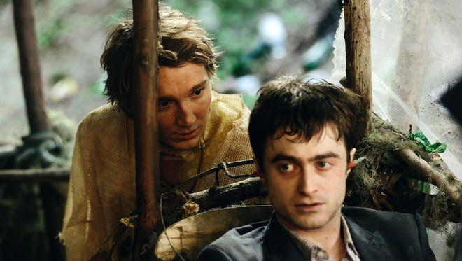 """Paul Dano and Daniel Radcliffe appear in a scene from """"Swiss Army Man."""""""