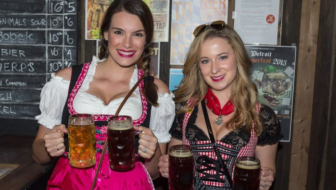 A modern take on the traditional Oktoberfest celebration was on tap at the Batch Brewing Company on Saturday, September 19, 2015 in Detroit. The Corktown nano-brewery served up handcrafted German-style beers, food and entertainment as they celebrated their first Octoberfest since opening their doors in February 2015. Many guests wore Dirndl and Lederhosen as they sipped from commemorative beer steins under sunny September skies.