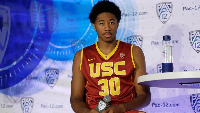 Elijah Stewart, a junior, will be part of a three-guard lineup for USC.