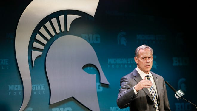 """""""We've been prepared for this (announcement), and took the correct actions,"""" MSU football coach Mark Dantonio said, Tuesday, June 6, 2017.  Charges were filed against MSU football players Josh King, Donnie Corley, and Demetric Vance for sexual assault.  All three were dismissed from the team Tuesday morning."""