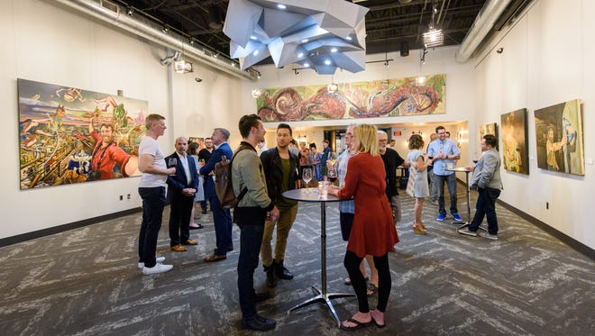 Attendees and influencers at the azcentral Who's Next: The Arts at the Found:Re Hotel in Phoenix on Oct 19, 2017.
