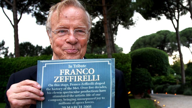 Director Franco Zeffirelli attends the 2008 American Academy McKim Award ceremony in Rome at Villa Aurelia on May 29, 2008 in Rome.