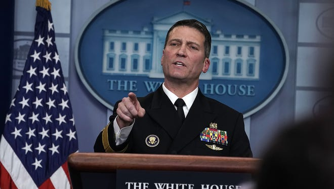 White House physician to President Trump, Rear Adm. Ronny Jackson