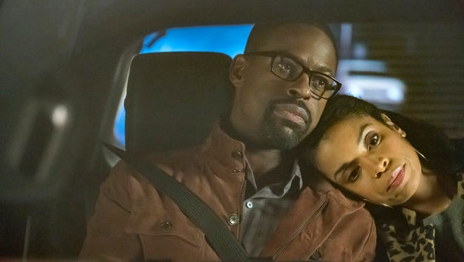 After fighting in Las Vegas, Randall (Sterling K. Brown) and Beth (Susan Kelechi Watson) patch things up on their way home on Tuesday's episode of 'This Is Us.'