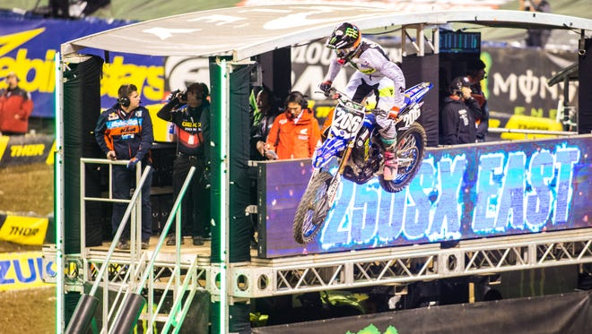 Monster Energy Supercross at Lucas Oil Stadium, Indianapolis, Saturday, March 18.
