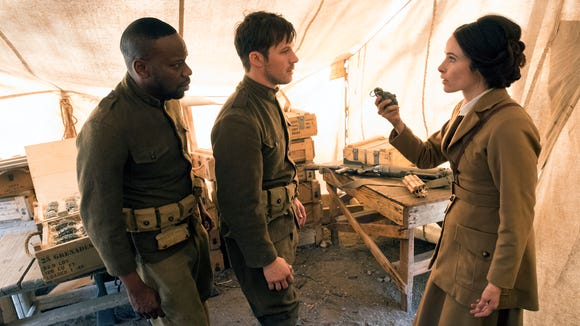 """Timeless"" (NBC): Malcolm Barrett, Matt Lanter and"