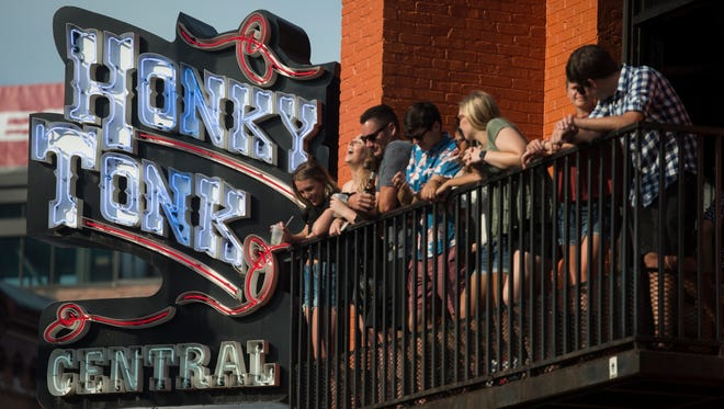 Patrons at Honky Tonk Central during the 2018 CMA Music Festival in Nashville.