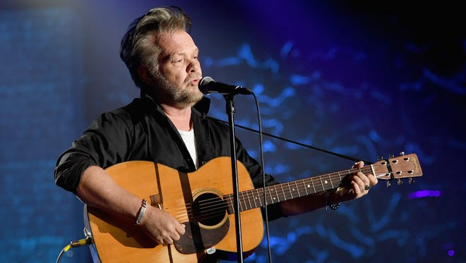 Songwriters Hall of Fame Inductee John Mellencamp performs Thursday at New York City's Marriott Marquis Hotel.