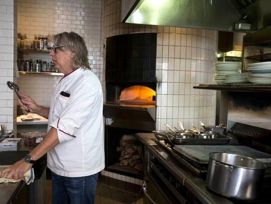 Chef Christopher Gross prepares calf brain, October