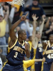 Dwyane Wade's triple-double in the Elite Eight against No. 1 Kentucky helped Marquette advance to the 2003 Final Four.