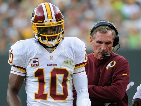 Redskins quarterback Robert Griffin III took the high road when talking about head coach Mike Shanahan's firing on Monday.