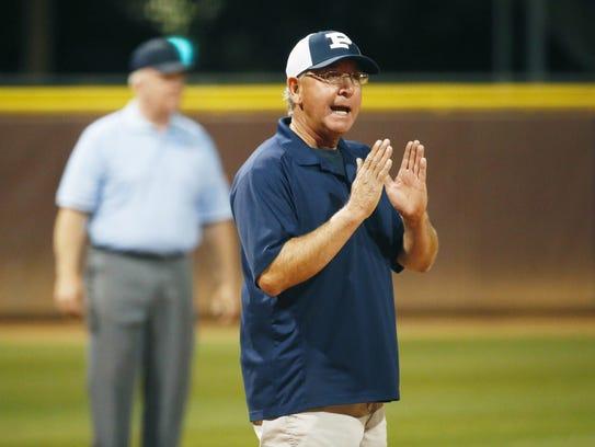 Pinnacle head coach Bobby Pena instructs his team against