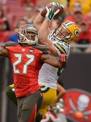 Green Bay Packers receiver Jordy Nelson (87) makes