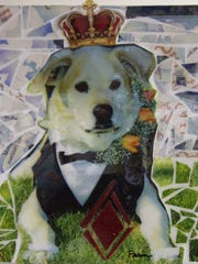 """King of Diamonds"" by Patrick Hazen and Karen Ellsbury is one of the pieces featured in the ""Dogs"" fundraiser and exhibition at the Wal-Art gallery."